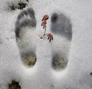 füsse im schnee